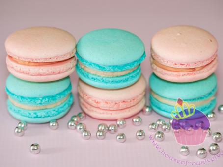 Tiffany & Peach Macarons