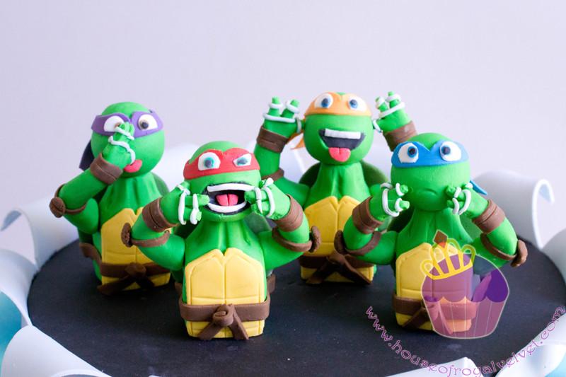 fondant ninja turtles