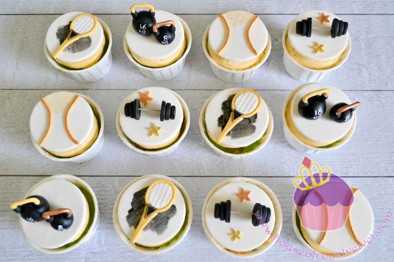 gym cupcakes