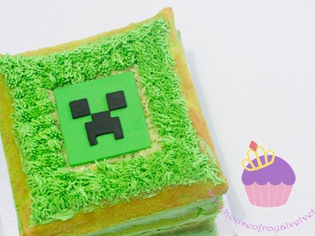 Minecraft Cake for Austin
