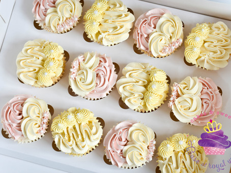 Piped Buttercream Cupcakes