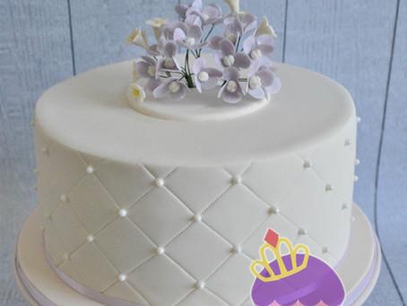 Hydrangea Cake for 40th Birthday