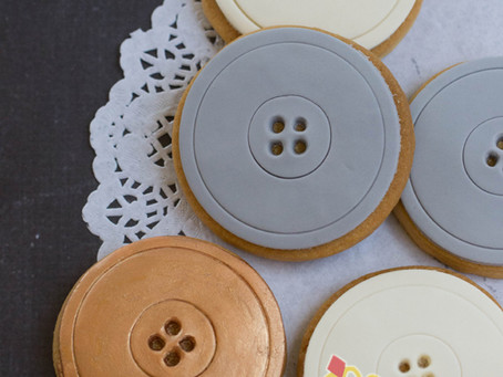 Button Cookies for Chantelle's Baby Shower