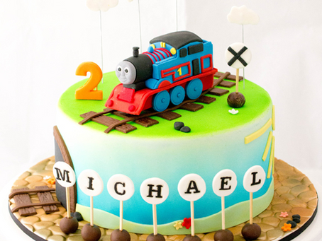 Thomas the Tank Engine Cake for Michael