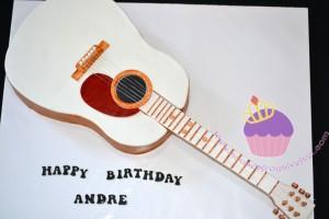 Guitar Cake for Andre