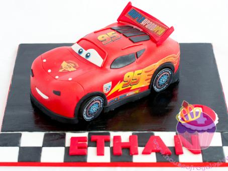 Lighting McQueen Cars Cake for Ethan