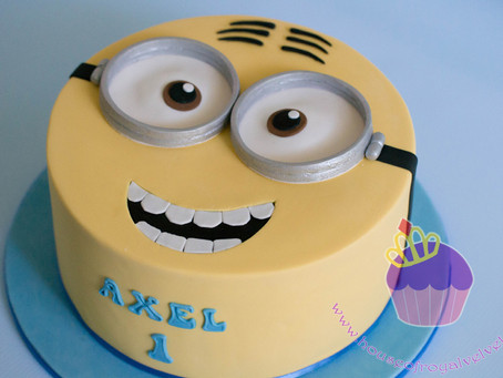 Minion Cake for Axel