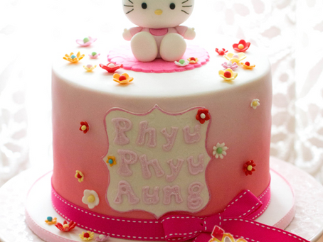 Hello Kitty Cake for Phyu Phyu Aung