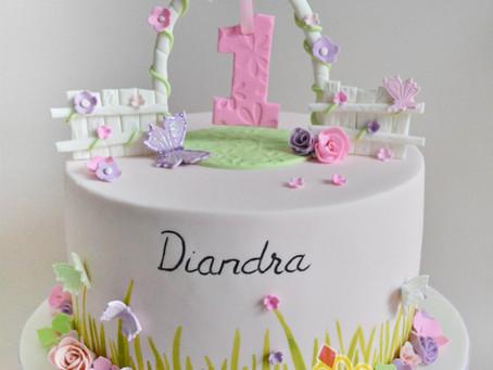 Garden themed Cake for Diandra