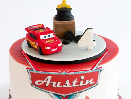 McQueen Cars Cake for Austin