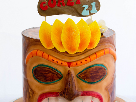 Tiki Head Cake for Corey