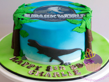 Jurassic Park Cake for Charlie