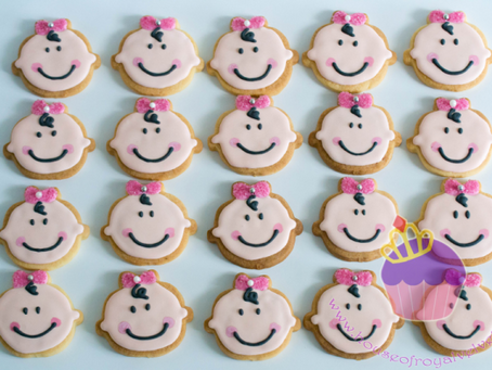 Baby Girl Face Cookies for Baby Shower