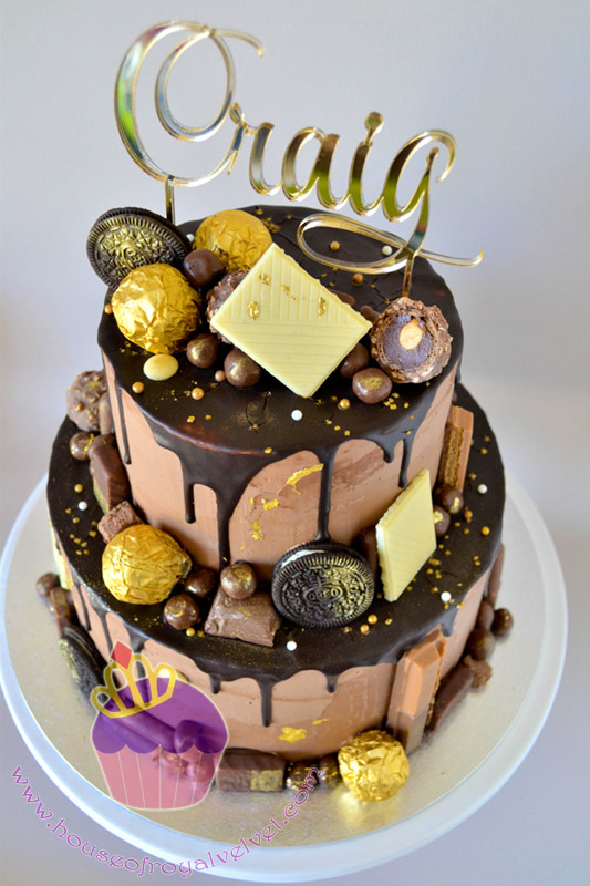 chocolate and gold cake