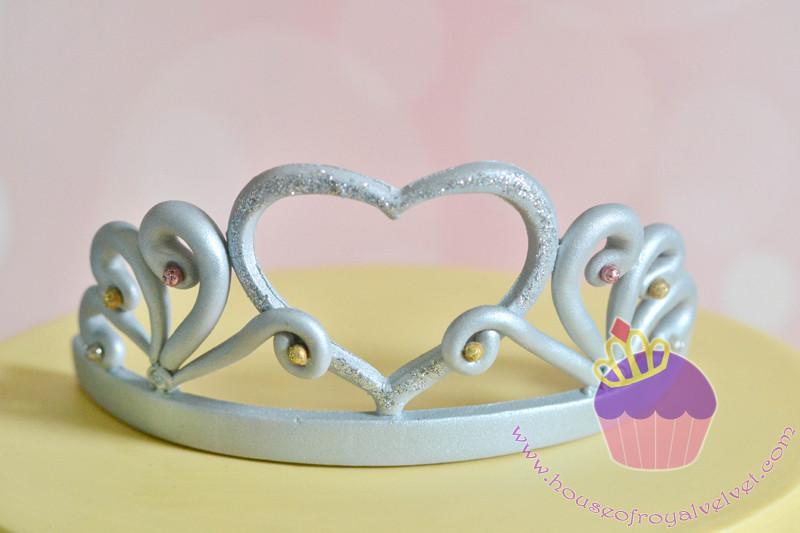 fondant tiara