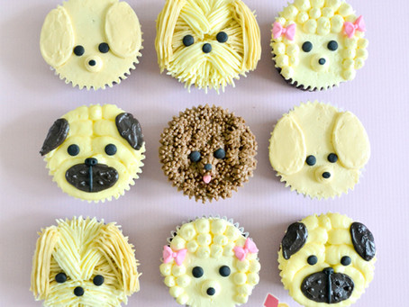 Puppy Cupcakes for 6th Birthday