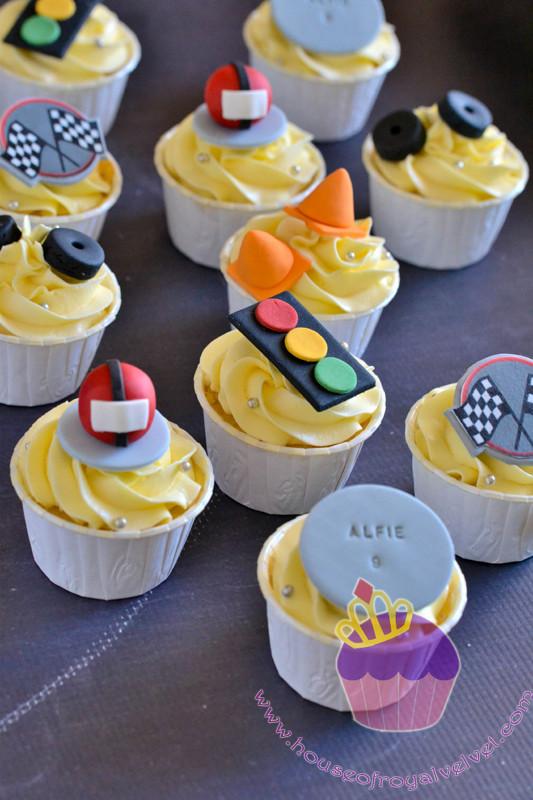 go kart cupcakes