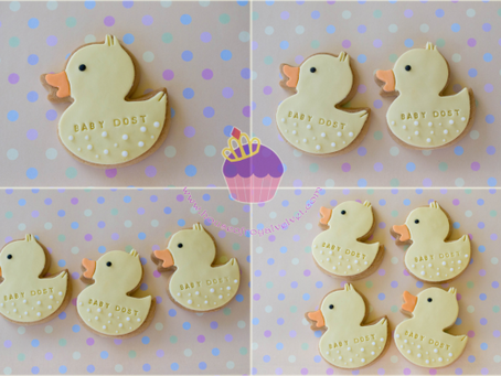 Rubber Duck Cookies for Leah's Baby Shower