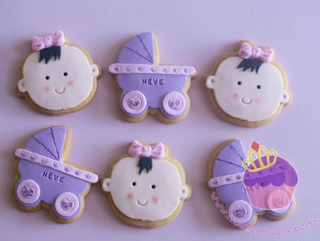 Baby Girl & Pram Cookies for Baby Shower