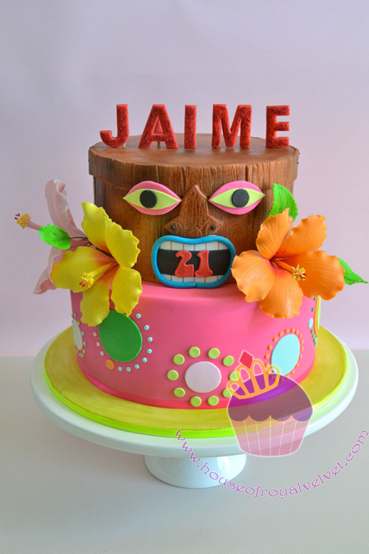 Tiki Cake for Jaime Perth Cakes Perth WA House of Royal Velvet
