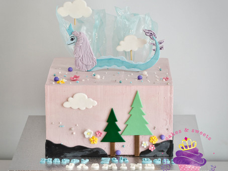 Raya the Dragon Cake