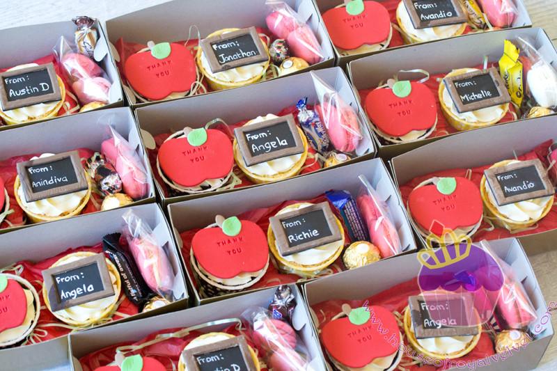 teachers cupcakes packaging