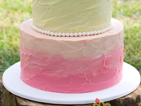 Coral Ombre Wedding Cake for Jasmine