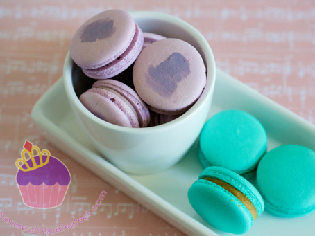 Purple & Teal Macarons for Kate's Baby Shower