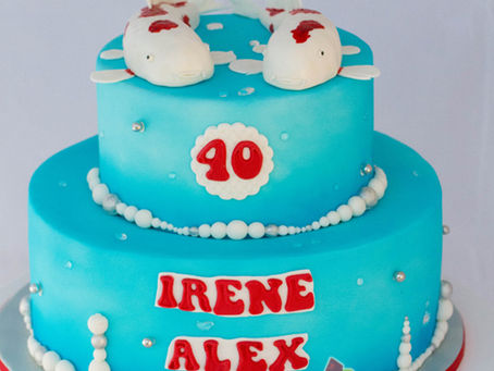Koi Fish Cake for Irene & Alex