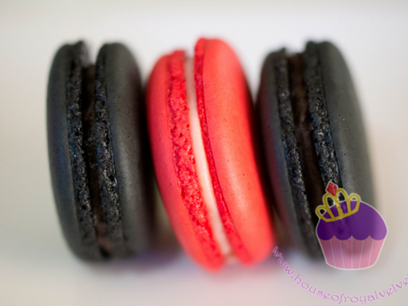 Black & Red Macarons for Jethro's Birthday