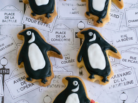 Penguin Cookies for Natalie's Wedding Favours