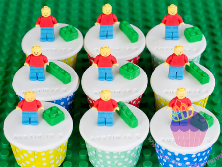 Lego Cupcakes for Austin
