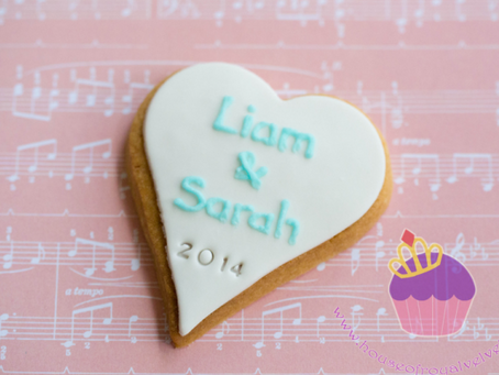 Heart Cookies for Liam & Sarah's Engagement