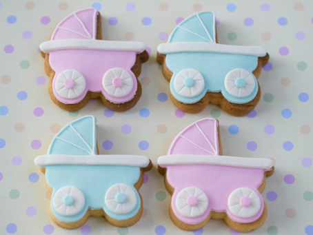 Pram Cookies for Jemma's Baby Shower