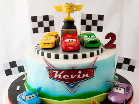 Cars Cake for Kevin's 2nd Birthday