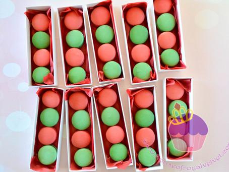 Christmas Macarons of 4