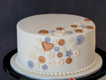 Buttons Cake for Chantelle's Baby Shower