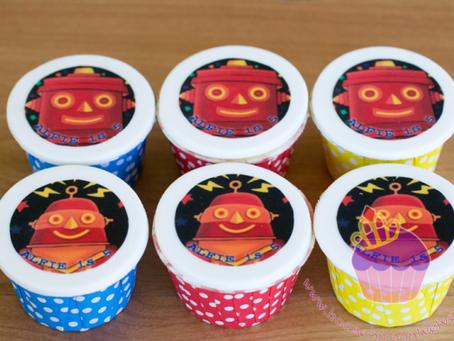 Robot Cupcakes for Alfie