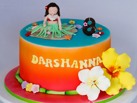 Hawaiian Themed Cake for Darshanna