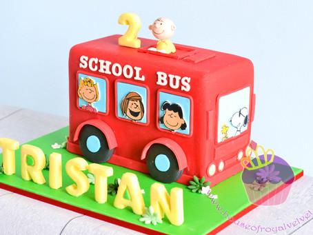 Snoopy Bus Cake