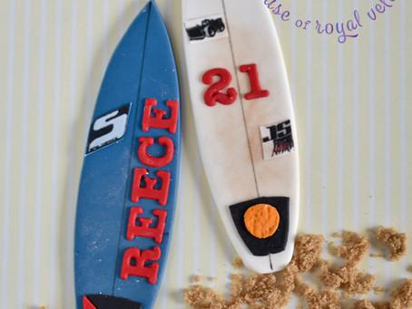 Surfboard Cake Topper