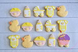 baby shower cookies yellow
