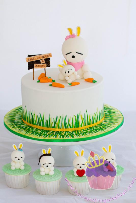 mashimaro cake, mashimaro cupcakes