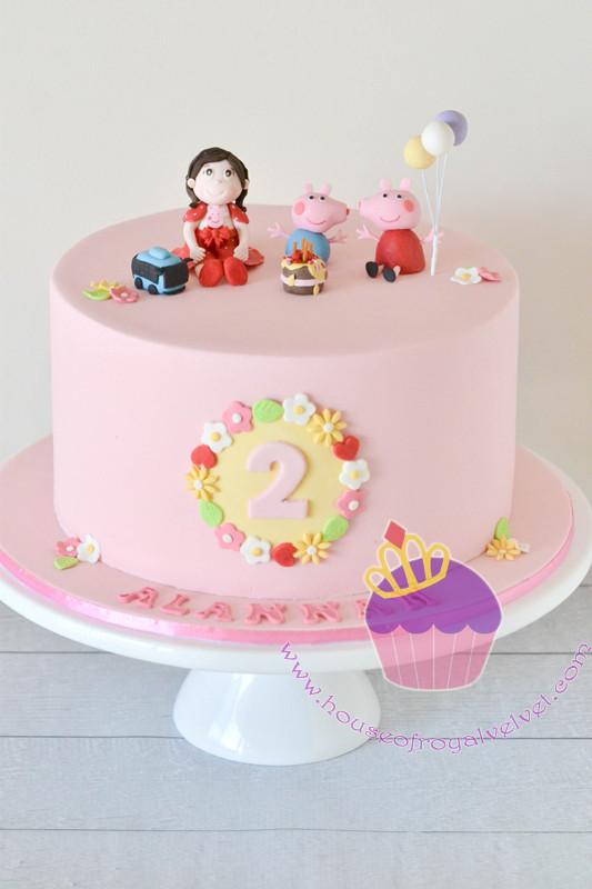 Peppa Pig Cake for Alannah Perth Cakes Perth WA House of Royal
