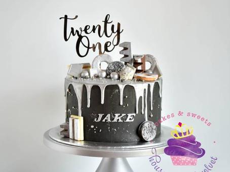 Black & Silver cake