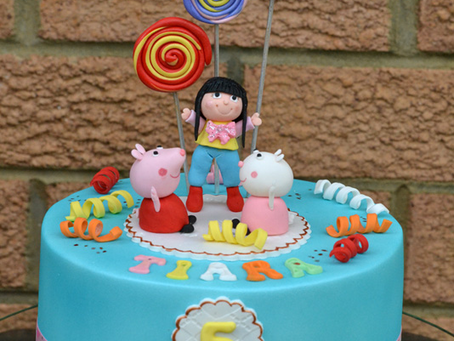 Peppa Pig & Sussy the Sheep Cake for Tiara's 5th Bday