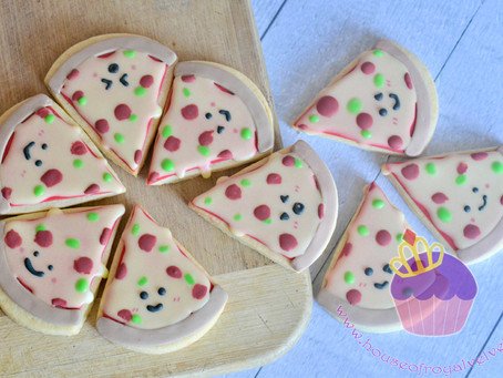 Pizza Cookies for Austin