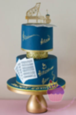 Painted birthday cake