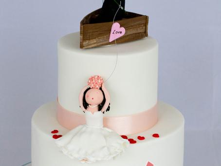 Cute Wedding Cake for Ben & Claudia