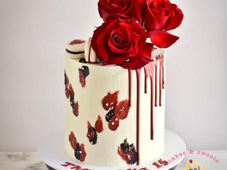 Red & Black Birthday Cake